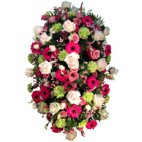 Colorful funeral arrangement